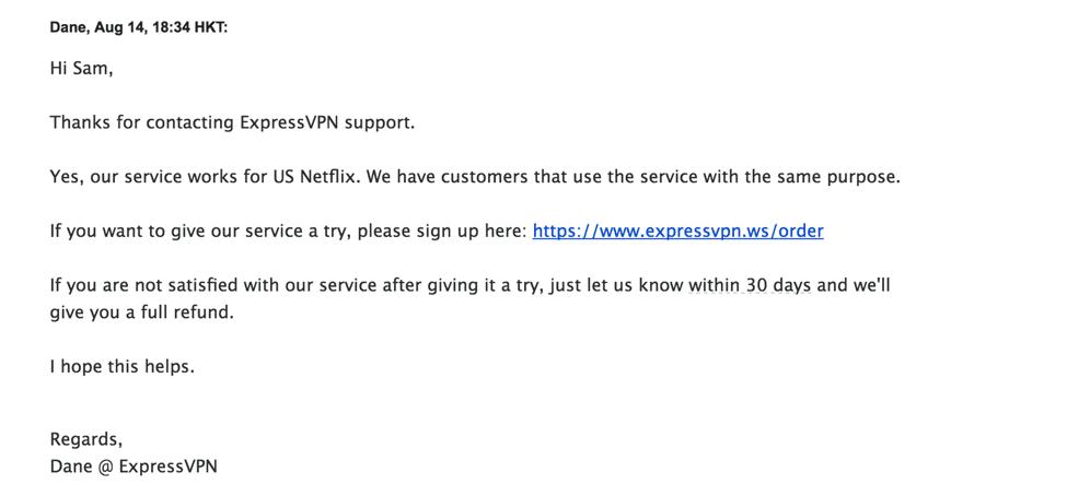 expressvpn email