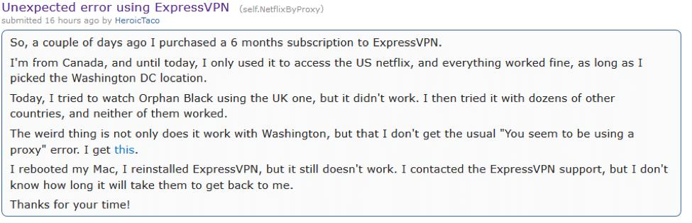 reddit expressvpn netflix
