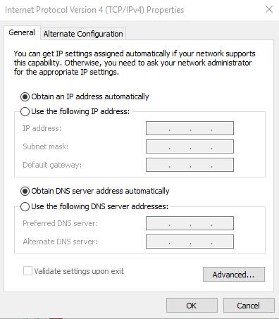 Windows DNS screenshot