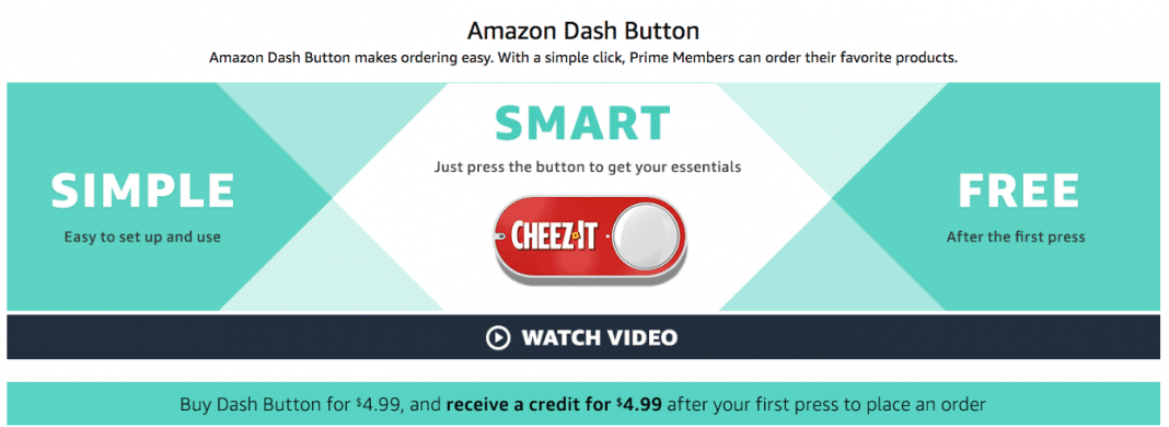 Reorder household items with the press of an Amazon Dash Button