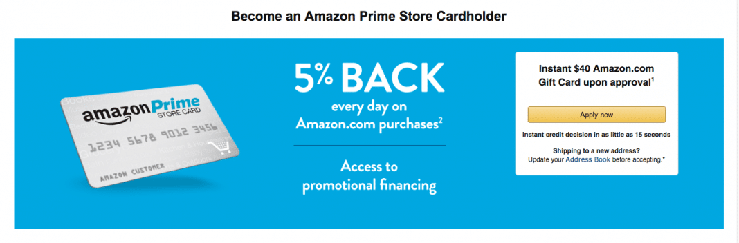 Amazon cards award cash back