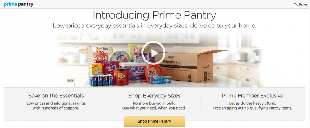 Restock the kitchen with Prime Pantry