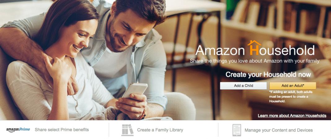 Amazon Household sharing Prime benefits