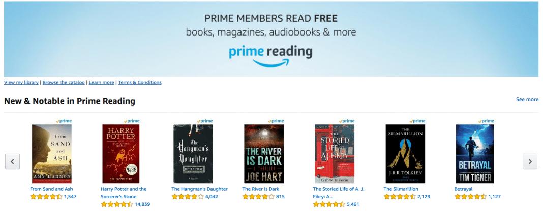 Amazon Kindle Prime Reading