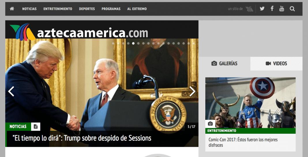 AztecaAmerica Spanish language TV