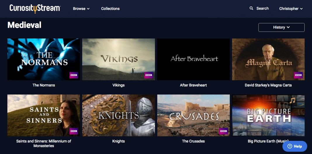 CuriosityStream Medieval sub-theme