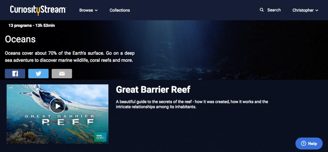 CuriosityStream Oceans collection