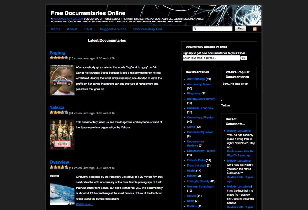 Documentary-log
