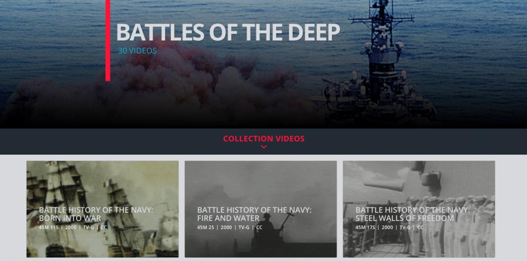 Naval warfare documentaries on History Vault