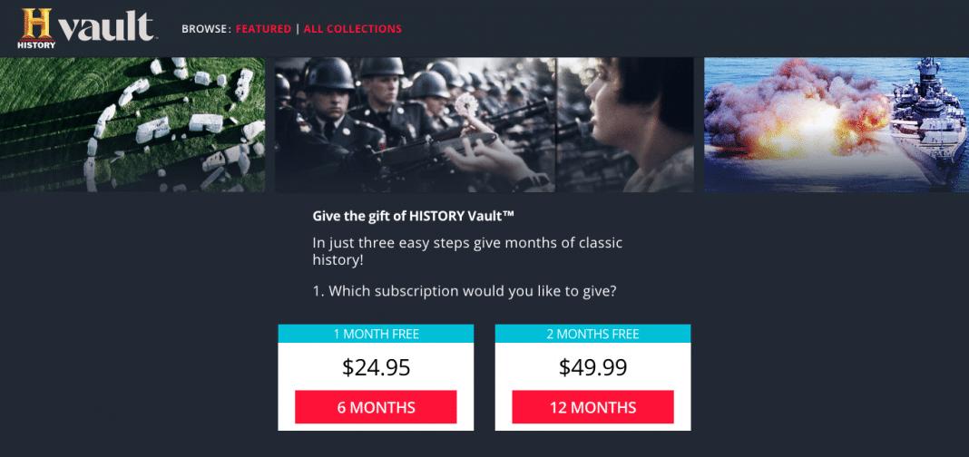 History Vault subscription plans