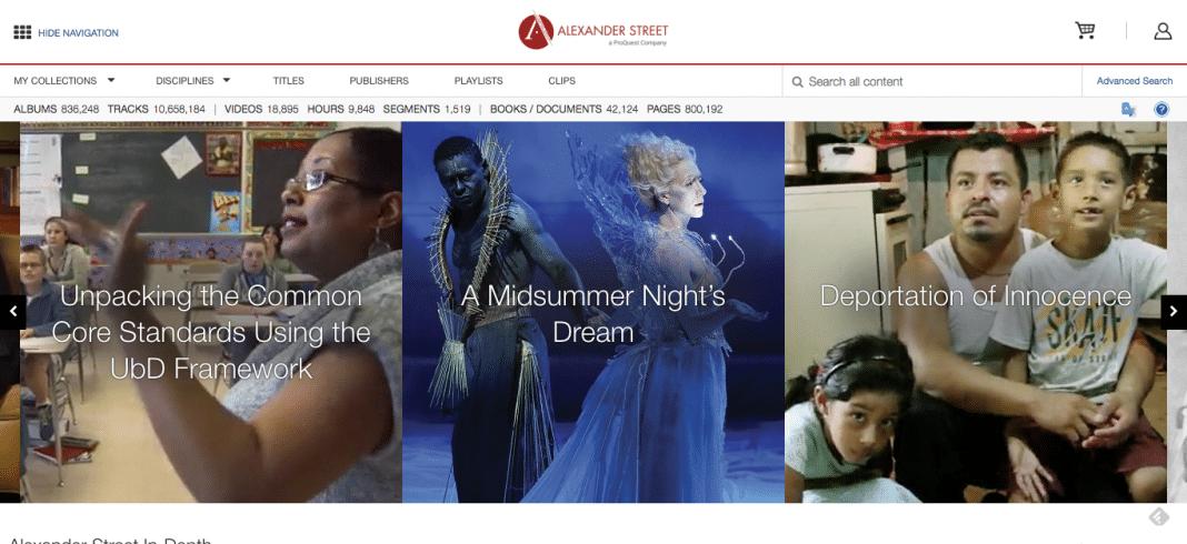 Alexander Street Press video for libraries