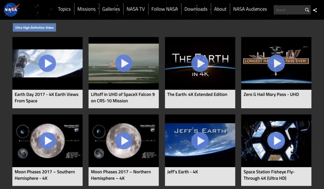 NASA 4K streams