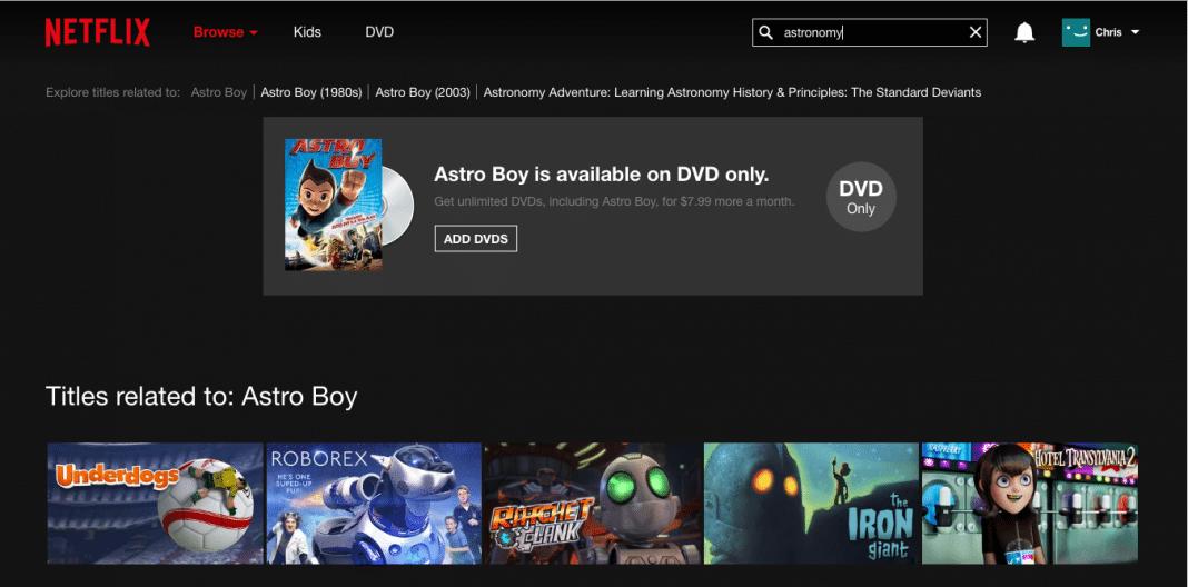 Netflix Search Fail