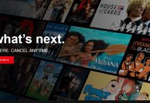 Netflix Home Page