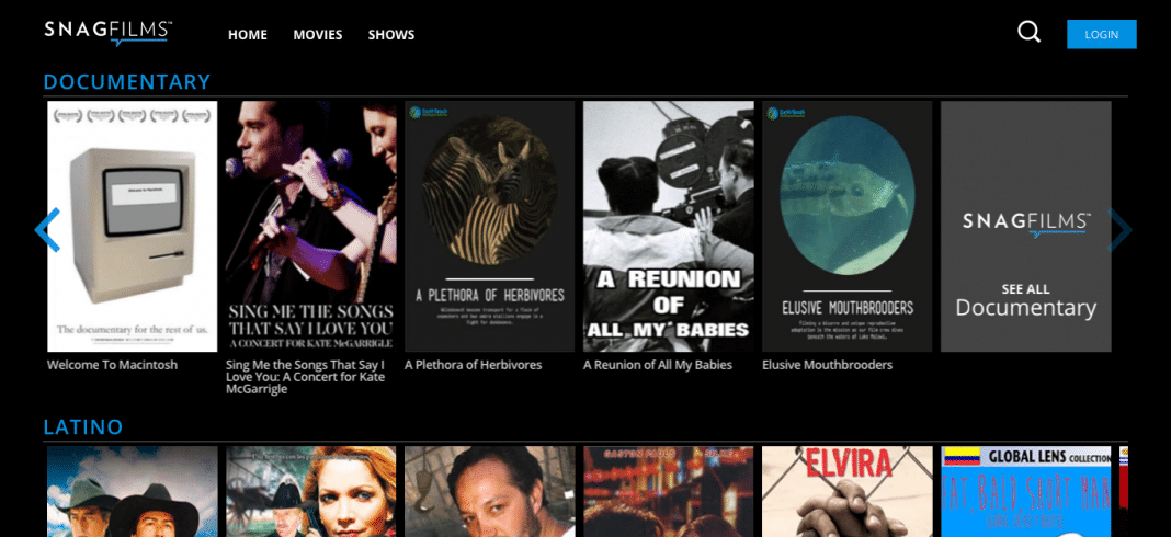 SnagFilms browse by category