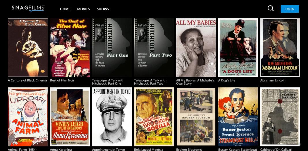 Classic films on SnagFilms