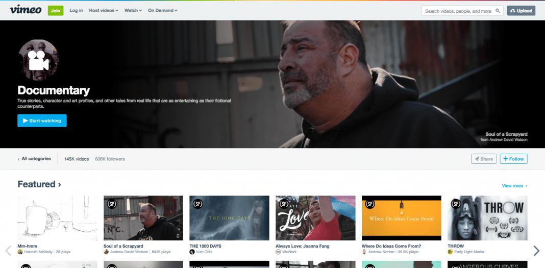 Vimeo documentaries