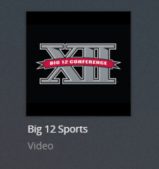 big12sports plex channel screenshot