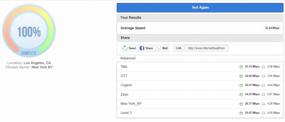 netflix throttling internet health test