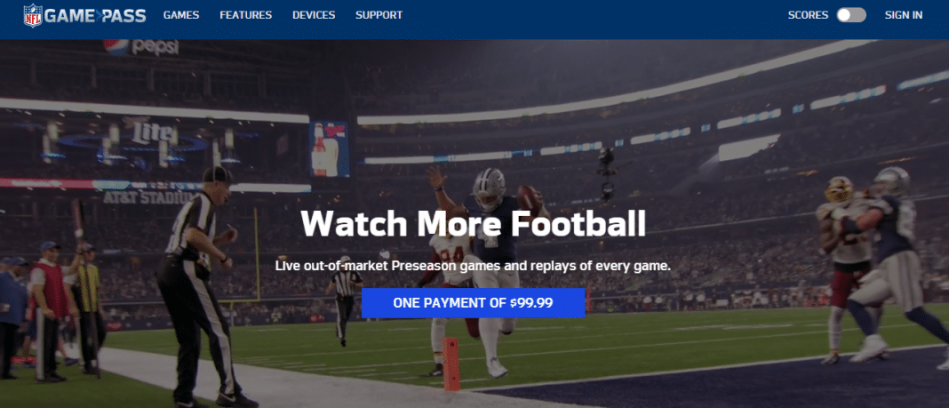 NFL Game pass nfl games without cable
