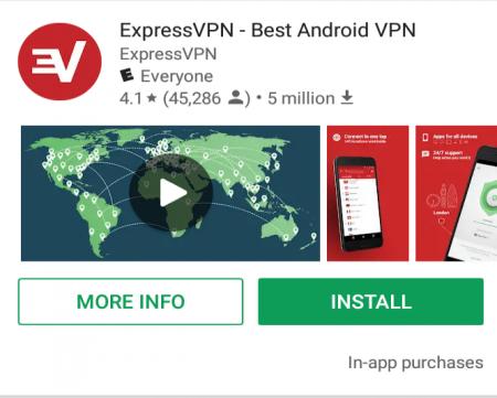 Android expressvpn