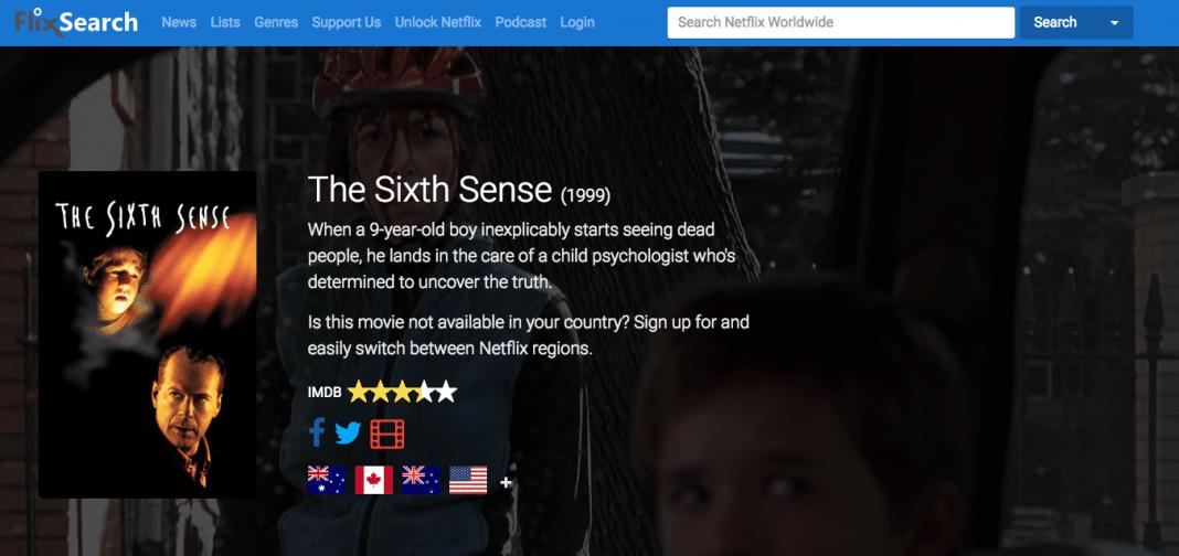 The Sixth Sense on Netflix