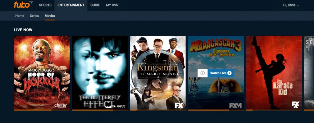 FuboTV movie section