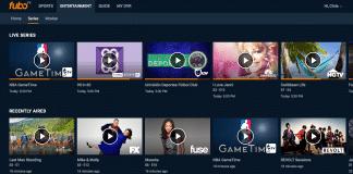 FuboTV entertainment section