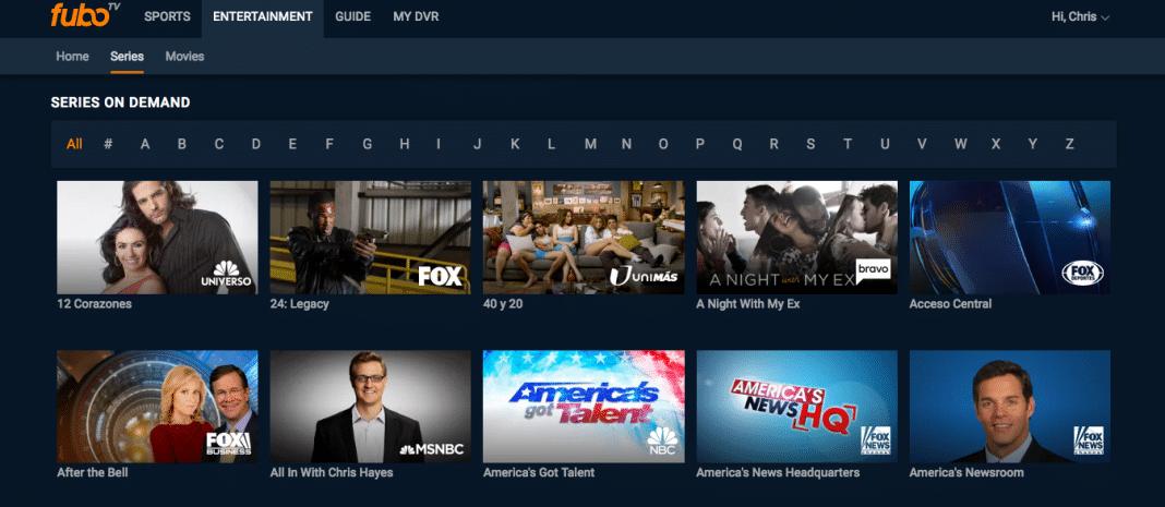 TV on demand on FuboTV