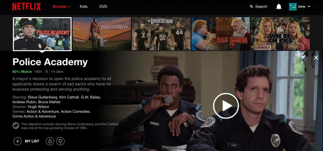 Police Academy Netflix