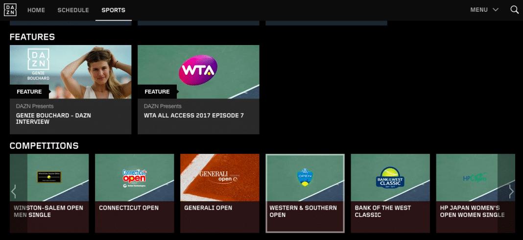 Tennis on DAZN