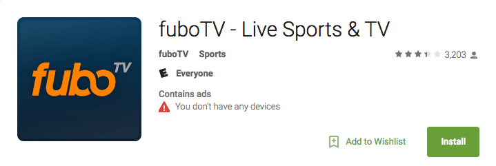 FuboTV on Android