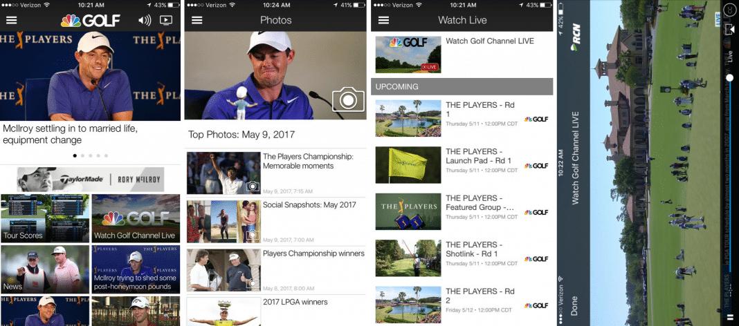 Golf Channel app screenshots