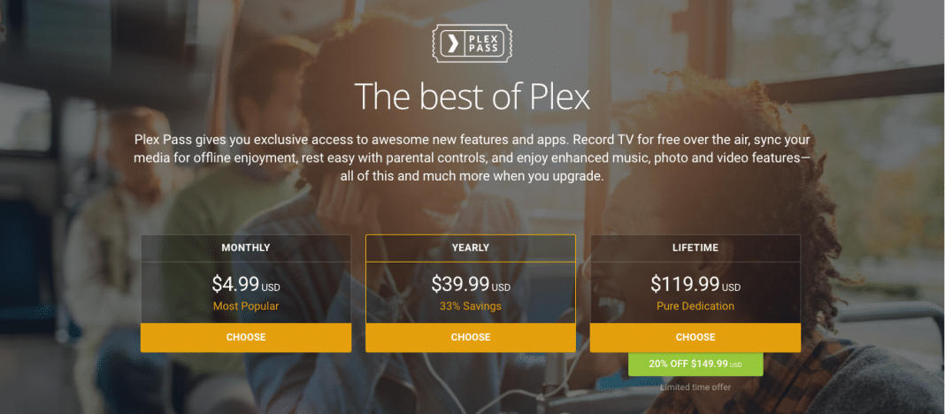 Plex Pass subscription