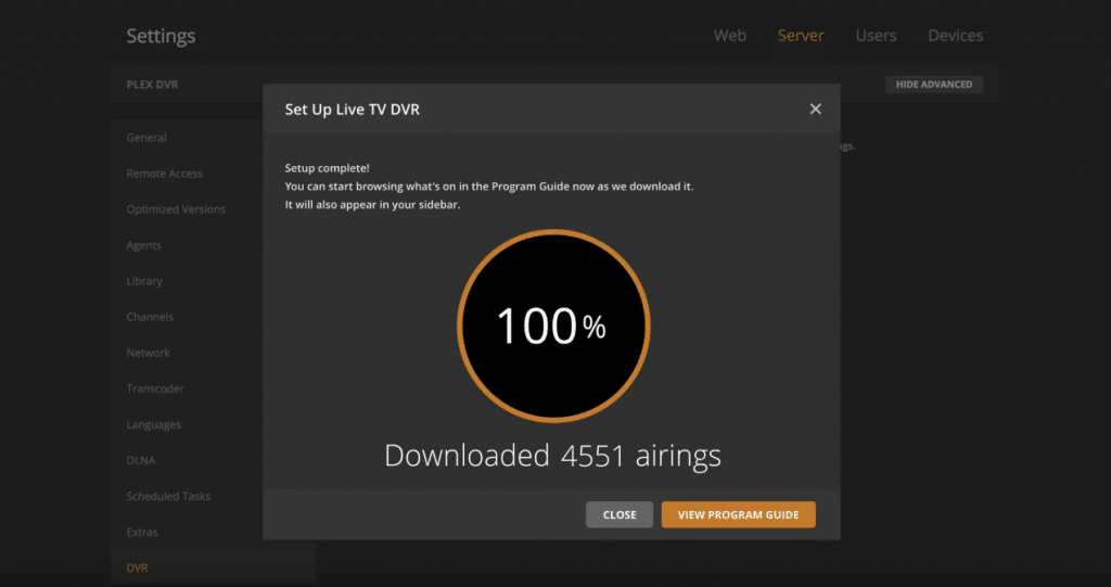 plex add channels dvr
