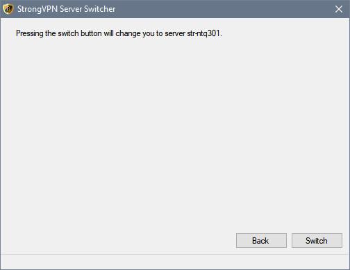 confirm server switch