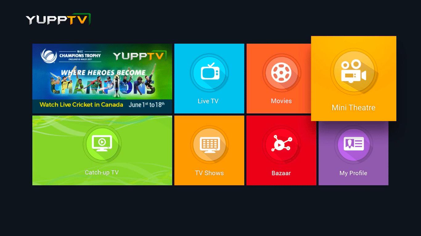 YuppTV on Apple TV