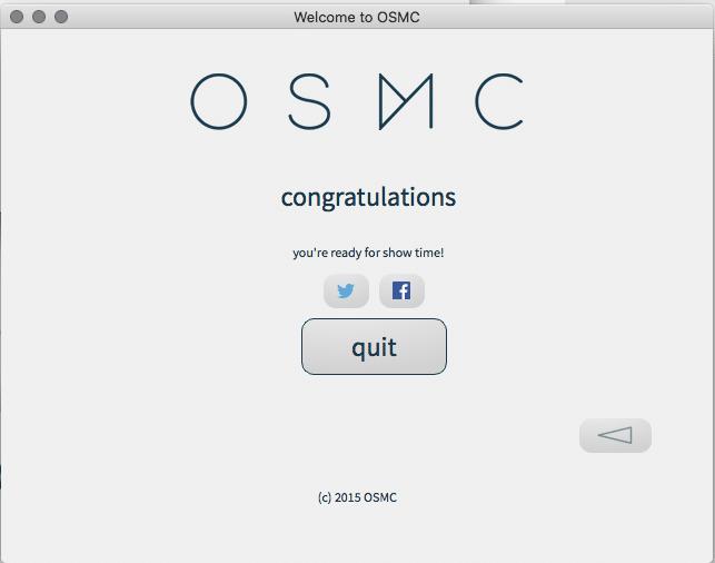 osmc setup complete