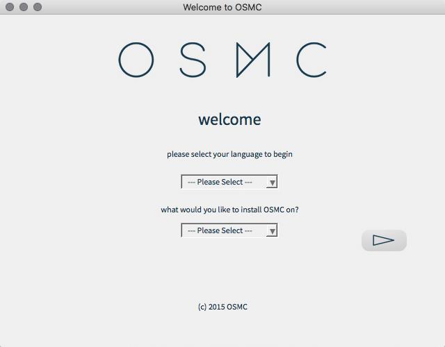 OSMC installer program menu