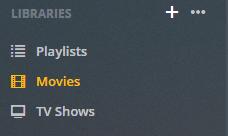 plex libraries settings menu