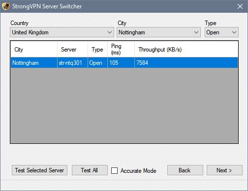 server select