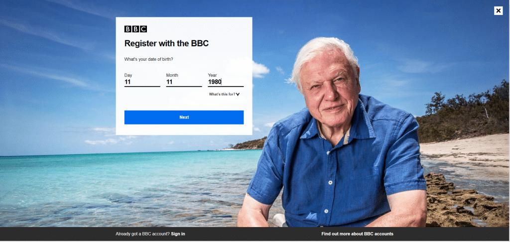 bbc iplayer login registration