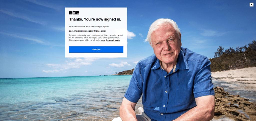 login iplayer bbc