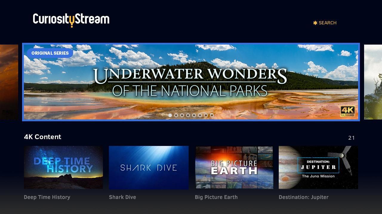 CuriosityStream on Roku