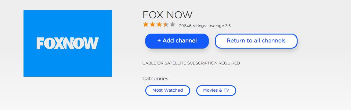 FOXNow on Roku