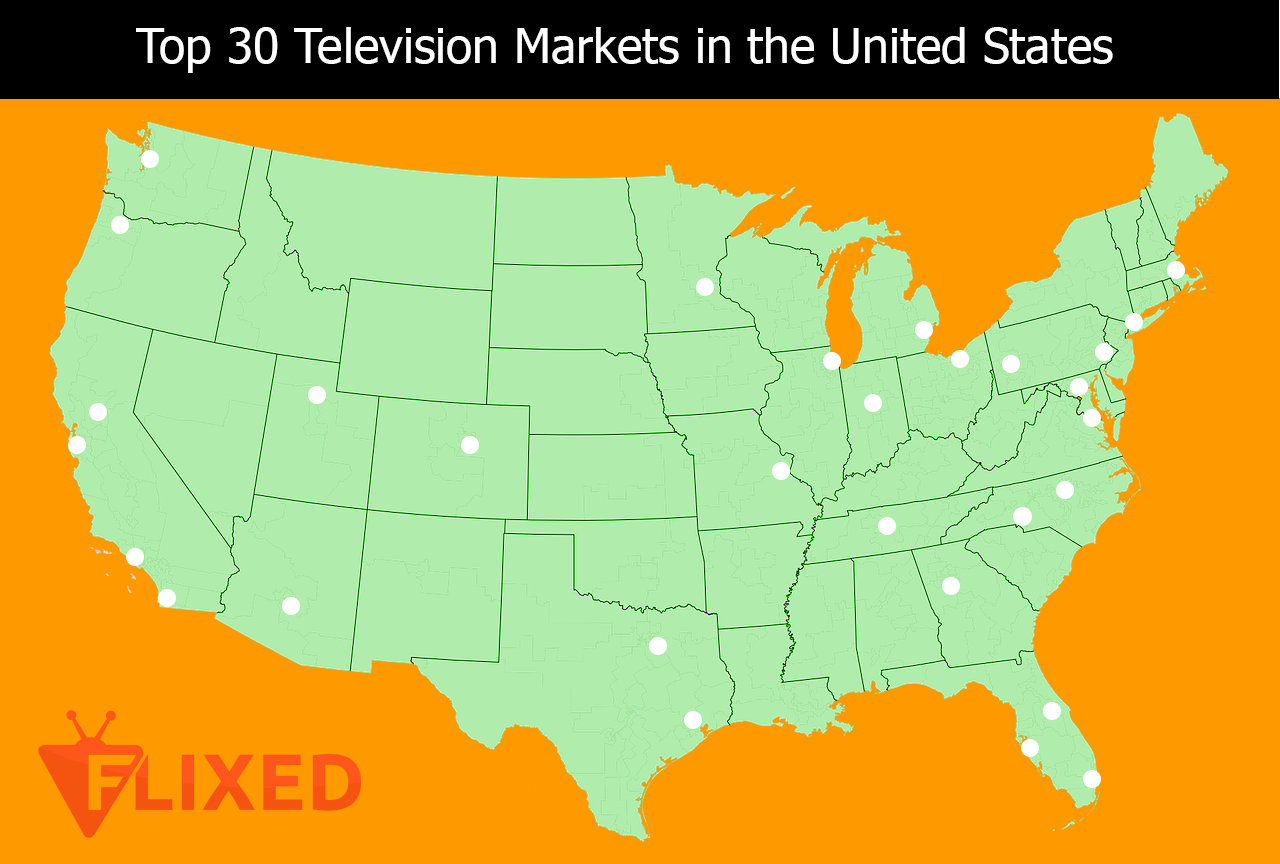 Top 30 TV Markets in US