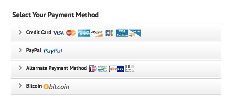 payment ipvanish bitcoin paypal