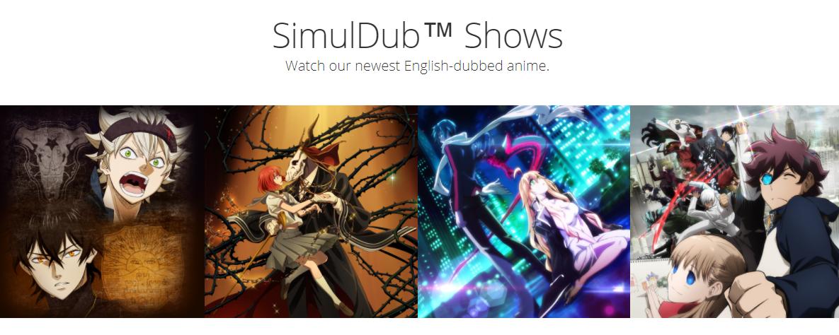 new simuldub shows