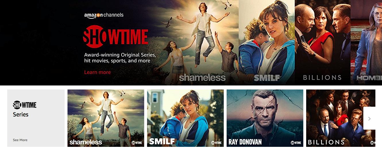 Showtime on Amazon Prime Video