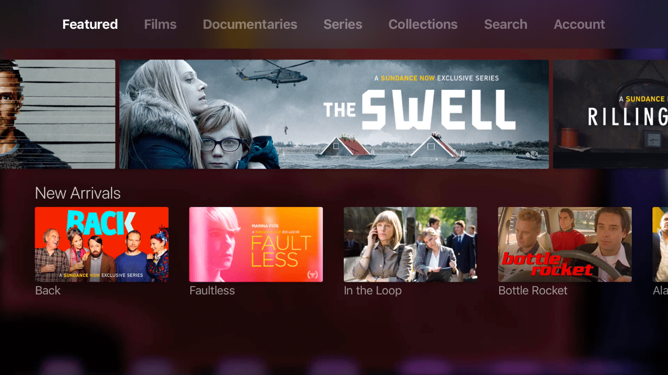Sundance Now on the Apple TV